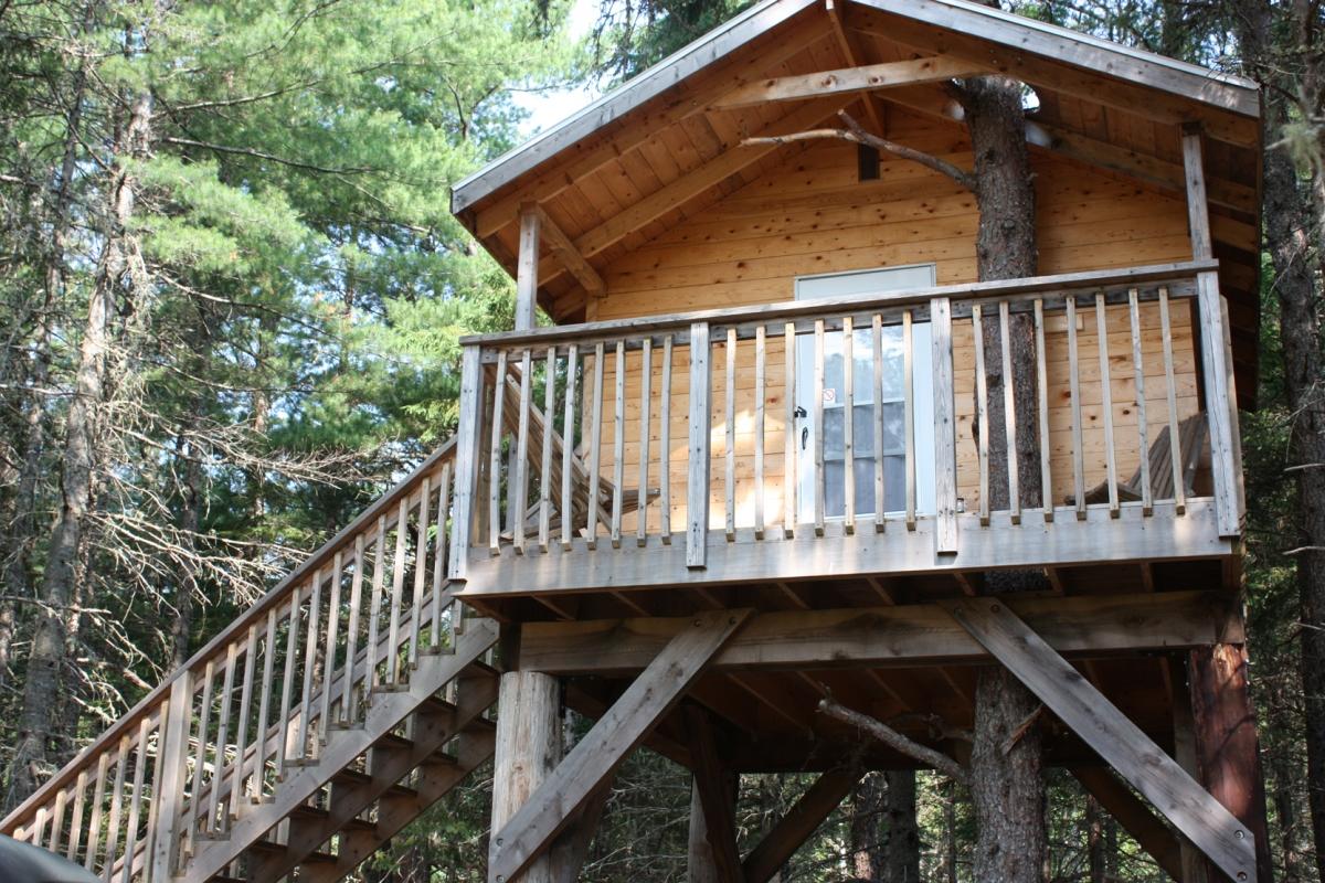 Dormir dans les arbres au Camping Miramichi