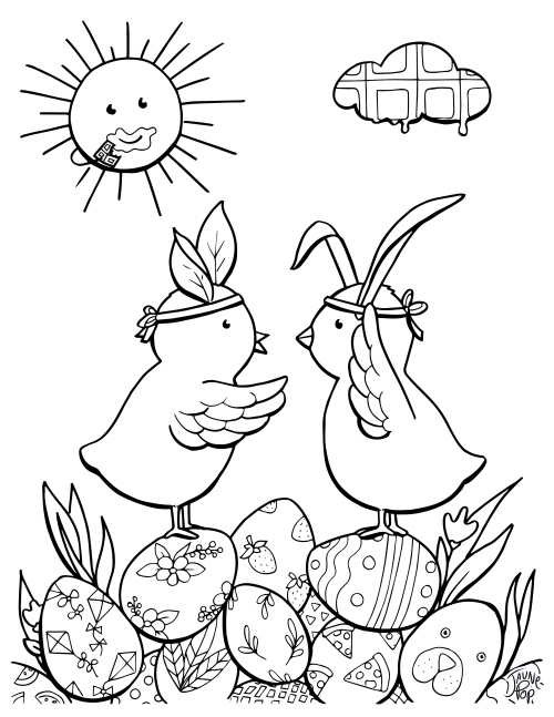 coloriage-paques