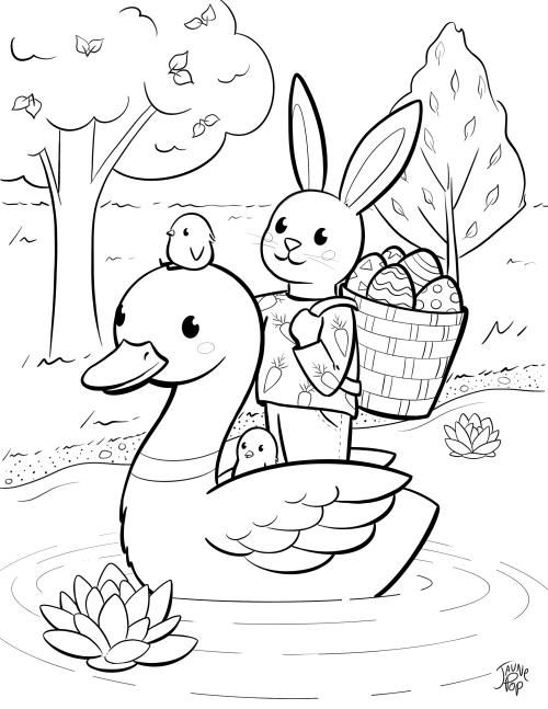 Dessin à colorier de Pâques